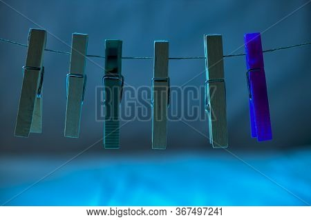 Clothespins For Hanging Clothes On A Clothesline