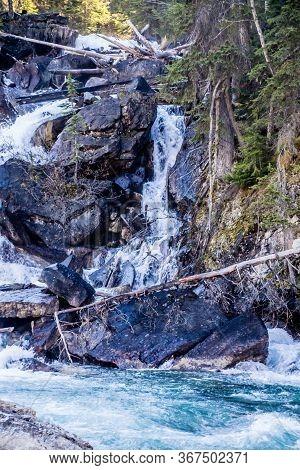 Confluence Of Yoho And Kickinh Horse Rivers. Yoho National Park. British Columbia, Canada.