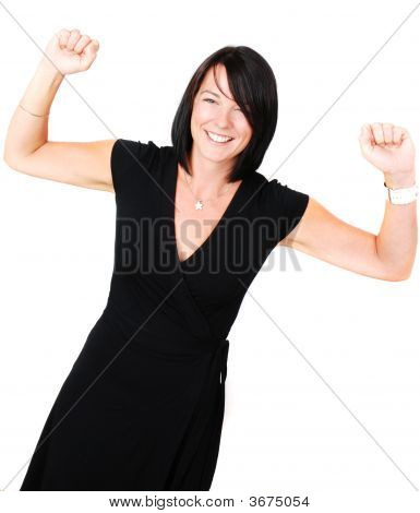 Brunette Happy To Have Succeeded
