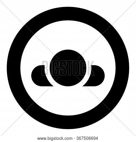 Man Lying On Back View Head Shoulders Icon In Circle Round Black Color Vector Illustration Flat Styl