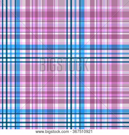 Two-color Seamless Checkered Pattern, Made By The Intersection Of Stripes Of Different Widths, Shade
