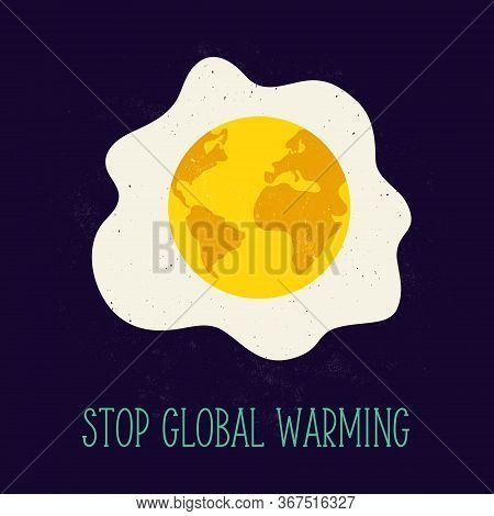 Globe With Desolated Surface. Global Warming Problem Concept Image