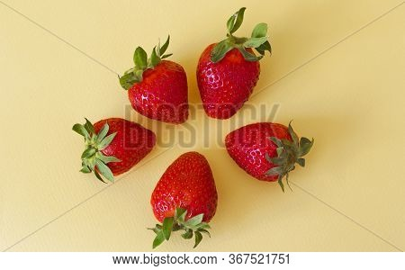 Strawberry Isolated On White Background. Strawberry Berry Fruit Clipping Path. Strawberry Macro Stud