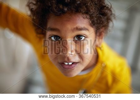 portrait of cute afro-american girl.