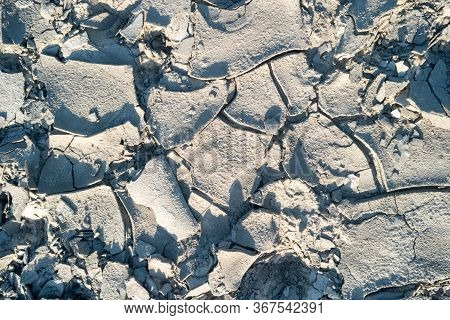 Cracked Sandy Mud Ground Texture