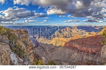 Spectacular Sunset At Grand Canyon At Hopi Point