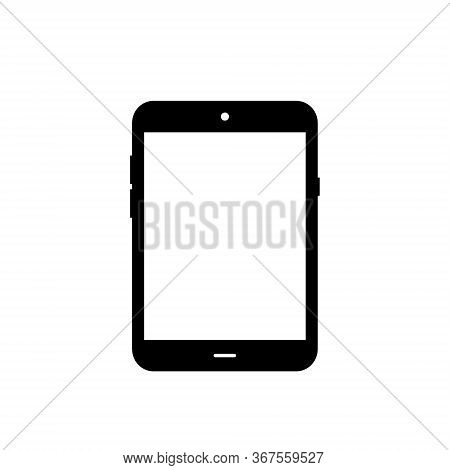 Modern Tablet Icon Vector. Black Tab Computer Image