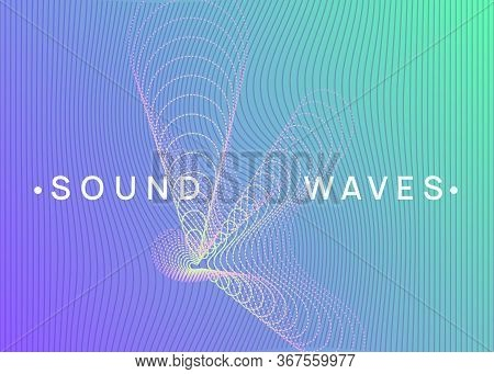 Music Fest. Dynamic Fluid Shape And Line. Modern Discotheque Invitation Concept. Music Fest Neon Fly