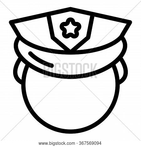 Prison Guard Icon. Outline Prison Guard Vector Icon For Web Design Isolated On White Background