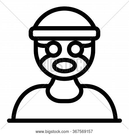 Criminal Prison Icon. Outline Criminal Prison Vector Icon For Web Design Isolated On White Backgroun