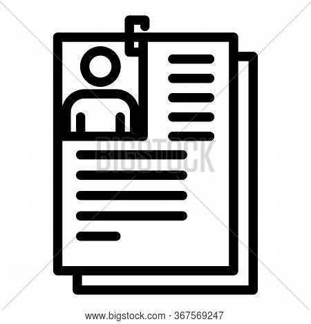 Prison File Folder Icon. Outline Prison File Folder Vector Icon For Web Design Isolated On White Bac