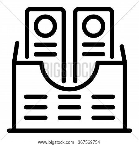 Notary Folder Icon. Outline Notary Folder Vector Icon For Web Design Isolated On White Background