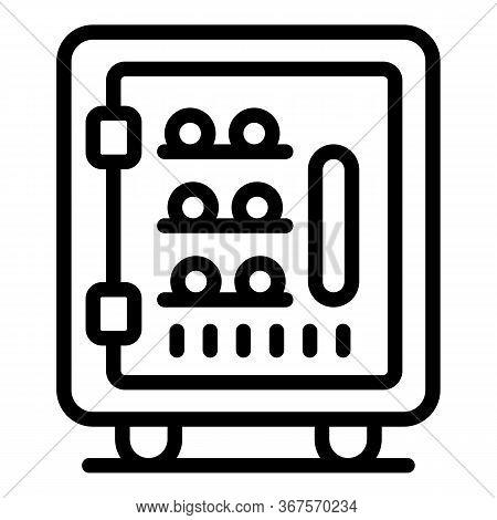 Fridge Bar Icon. Outline Fridge Bar Vector Icon For Web Design Isolated On White Background
