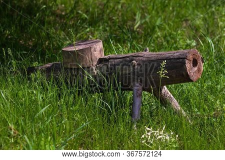 Soviet Light Machine Gun. Hand Made Wooden Machinegun