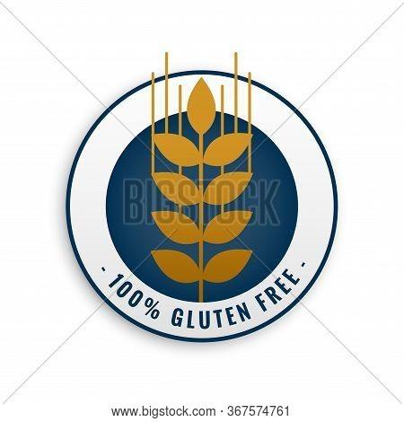 Gluten Free Label Or Symbol Design Icon