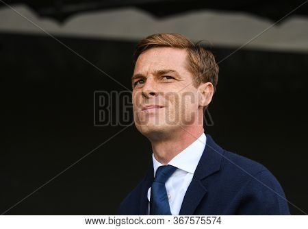 London, England - August 24, 2019: Fulham Manager Scott Parker Pictured During The 2019/20 Efl Skybe