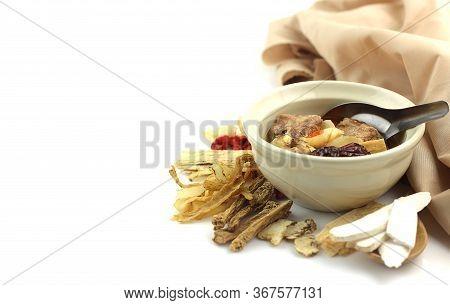 Close Up Of Medicine Soup With Pork