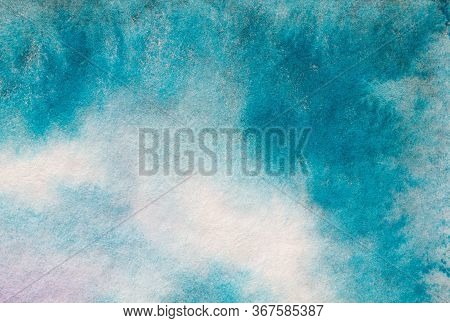 Watercolor Color Texture Background. Watercolor Abstraction. Artistic Background. Blue Watercolor Ba