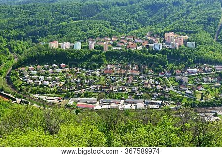 City In The Countryside Among The Forests. Alexander Lookout Tower - Adamov - Czech Republic.