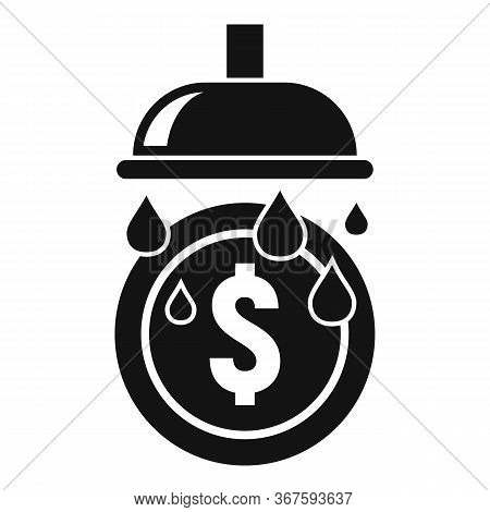 Wash Bath Coins Icon. Simple Illustration Of Wash Bath Coins Vector Icon For Web Design Isolated On