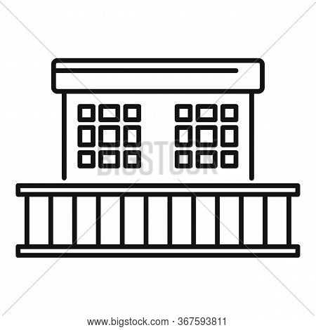 Money Laundering Prison Building Icon. Outline Money Laundering Prison Building Vector Icon For Web