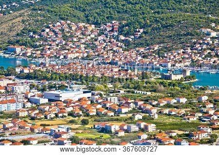 Trogir Riviera. Town Of Trogir View From The Hill, Dalmatia Region Of  Croatia