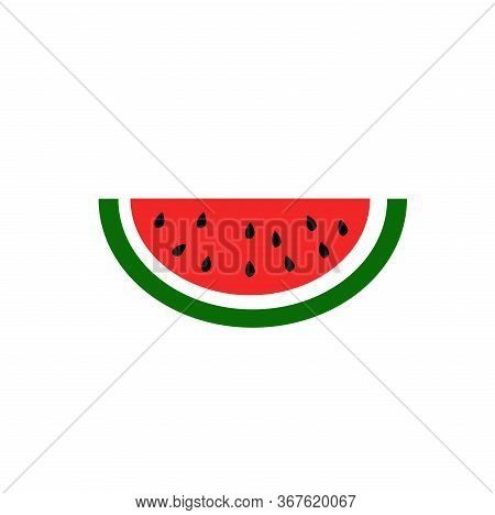 Vector Slice Watermelon Icon. Fruit Illustration. Healthy Food Design. Vector Illustration Red Fruit