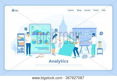 Analytics, Analysis, Analyzing, Data Processing, Success Strategy. A Team Of Specialists Analyzes Do