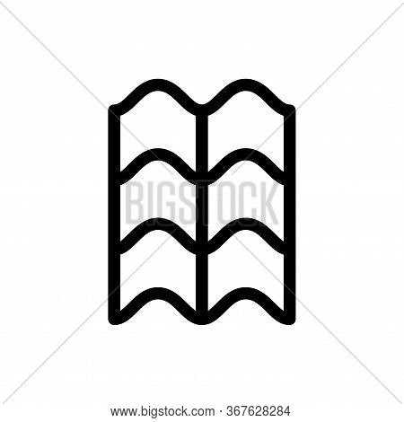 Rooftop Tile Ceramic Icon Flat Vector Template Design Trendy