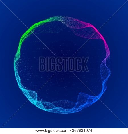 Space-time Portal. Abstract Grid Wormhole. Futuristic 3D Portal. Cosmic Wormhole. Funnel-shaped Tunn