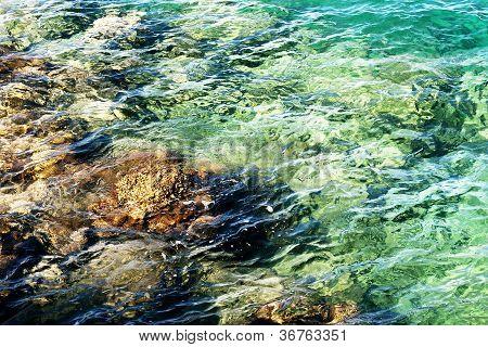 Aegean sea turquoise water