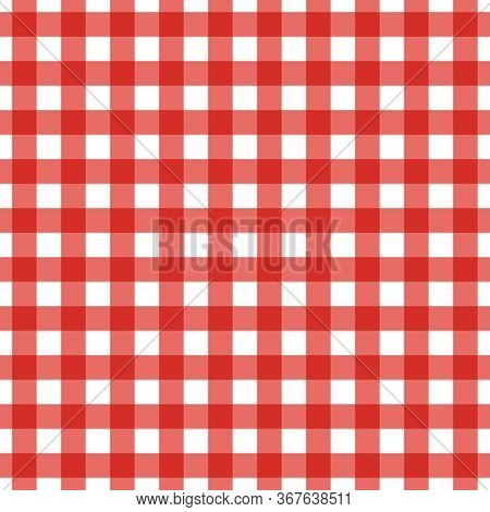 Vector Illustration Of Red And White Seamless Background
