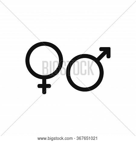 Male And Female Icon Isolated On White Background. Male And Female Icon In Trendy Design Style. Male