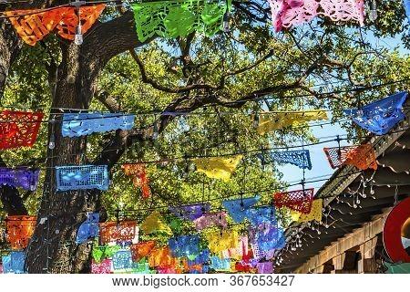 Mexican Market Square Christmas Paper Decorations San Antonio Texas. San Antonio Is Very Close To Me