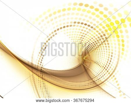 Abstract light background. Digital art fractal graphics. Composition of glowing lines and mosaic halftone effects. 3d illustration.