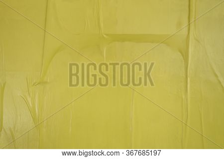Bumby Wrinked And Gued Yellow Large Sheet Of Paper