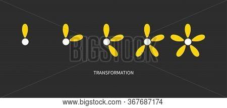 Metaphor Of Development, Growth, Transformation, Change Coaching Icon Logo Transform