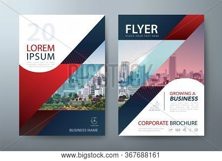 Annual Report Brochure Flyer Design, Leaflet Presentation, Book Cover Templates. Vector. Layout In A