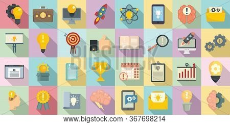 Innovation Icons Set. Flat Set Of Innovation Vector Icons For Web Design
