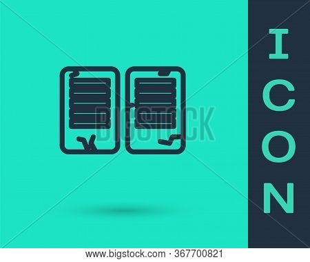 Black Line The Commandments Icon Isolated On Green Background. Gods Law Concept. Vector