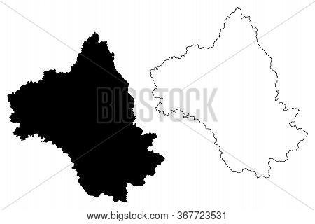 Aveyron Department (france, French Republic, Occitanie Or Occitania Region) Map Vector Illustration,