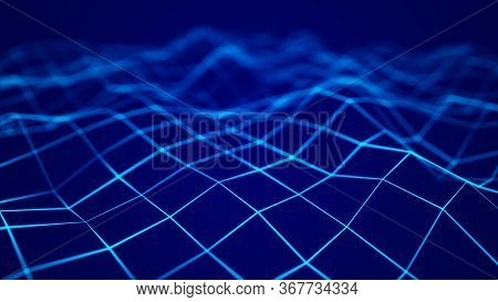 Network Connection Structure. Abstract Technology Background. Science Background. Big Data Digital B