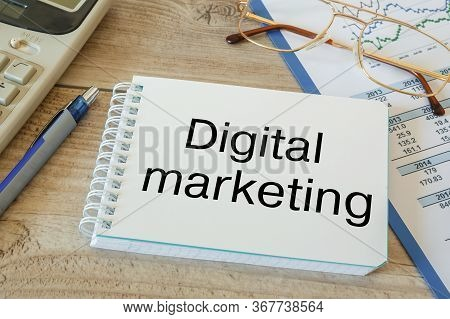 Workspace Office Desk - Foto On Top Of Workspace Card With Text Digital Marketing