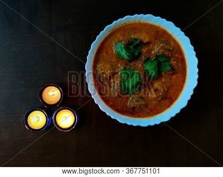 Malai Kofta, Mughlai Speciality Dish Made With Deep Fried Potato Paneer Balls Served In A Bowl With