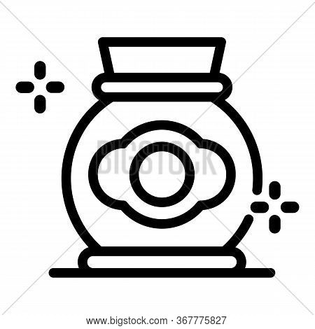 Potters Jug Icon. Outline Potters Jug Vector Icon For Web Design Isolated On White Background