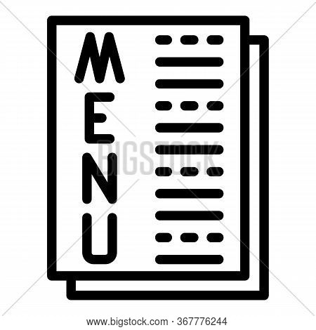 Menu Sheets Icon. Outline Menu Sheets Vector Icon For Web Design Isolated On White Background
