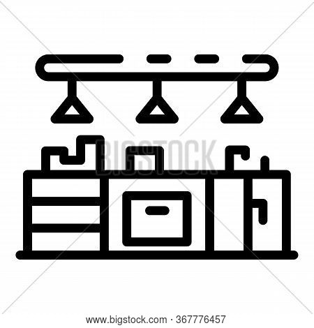 Kitchen Furniture Icon. Outline Kitchen Furniture Vector Icon For Web Design Isolated On White Backg