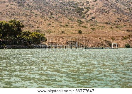 Catalina Harbor located on the back side of Santa Catalina Island at the Isthmus. Scenic shoreline and rocks poster