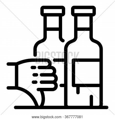 Bad Quality Wine Icon. Outline Bad Quality Wine Vector Icon For Web Design Isolated On White Backgro