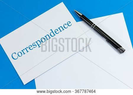 Envelope And Sheet Of Paper With The Word - Correspondence